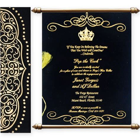 variant  scroll wedding cards  matte finish paper