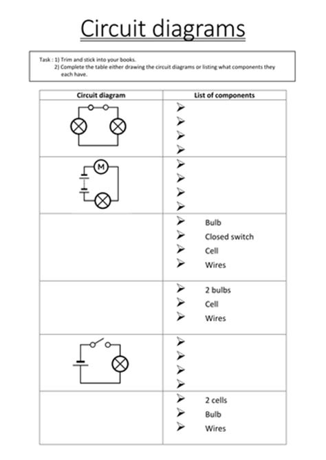 Year 9 Circuit Diagram by Circuit Diagrams By Soppo08 Teaching Resources Tes