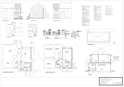 Garage Extension Plans - sallas free access garage design plans uk