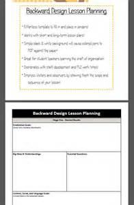 Backwards Design Lesson Plan Template