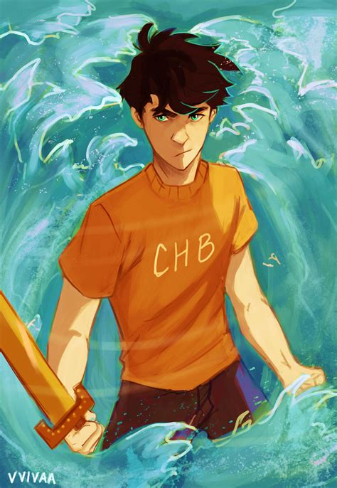 percy jackson fan art son of poseidon by vvivaa on deviantart
