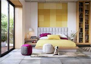 decoration chambre coucher adulte idees textures couleurs With decoration chambres a coucher adultes