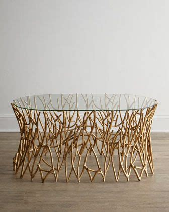 designer coffee table  base   tree branches
