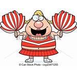 Cartoon Cheerleader Pompoms Illustration Clipart Clip Drawing