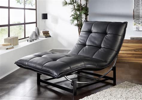 chaise longue en cuir design chaise longue de relaxation rockme xl en cuir