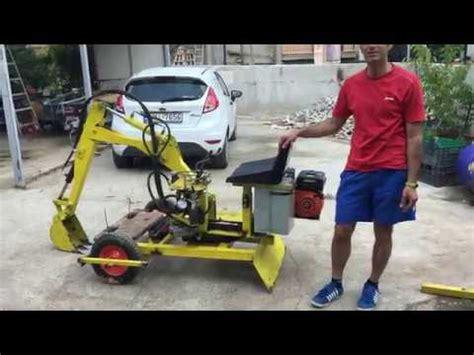 homemade mini excavator  degrees youtube