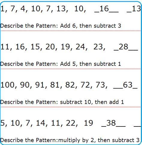 number patterns  maths descargardropbox