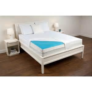 fresh foam comfort revolution hydraluxe cooling gel pad blue ivory 293503 mattress