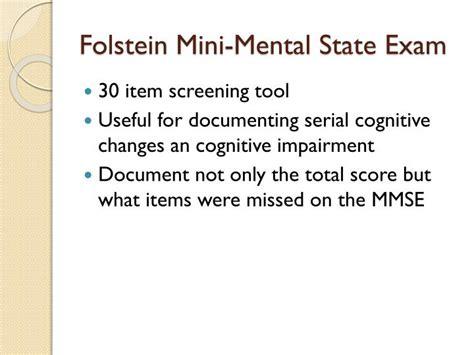 Mental Status Exam Powerpoint Presentation