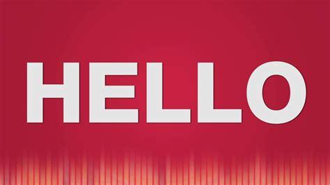 Hello SOUND EFFECT - Hello SOUNDS - YouTube