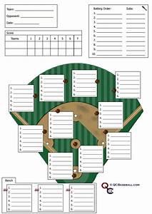 Baseball Lineup Card Printable Softball Defensive Lineup Card