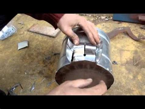 How To Make A Turbo by How To Make A Turbo Stove And Cook On It