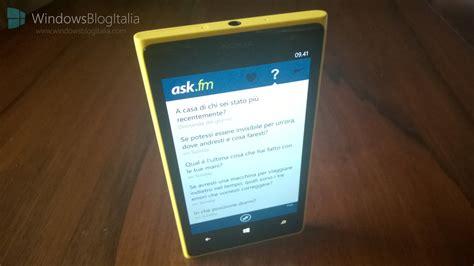 ask fm disponibile sullo store di windows phone 8 windowsblogitalia