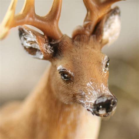 miniature buck deer figurine  items