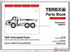 Terex Articulated Trucks Ta27 Parts Manuals