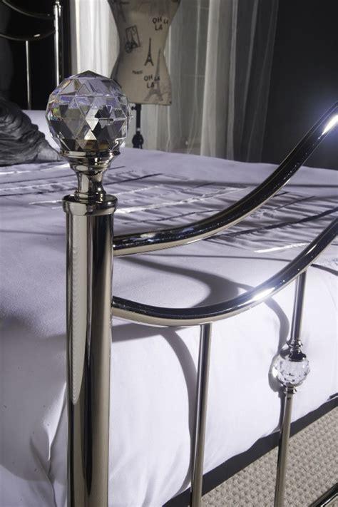 limelight cygnus ft kingsize chrome metal bed frame