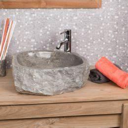 Grande Vasque À Poser : vasque poser en marbre roc rectangle cr me l 35 40 cm ~ Melissatoandfro.com Idées de Décoration