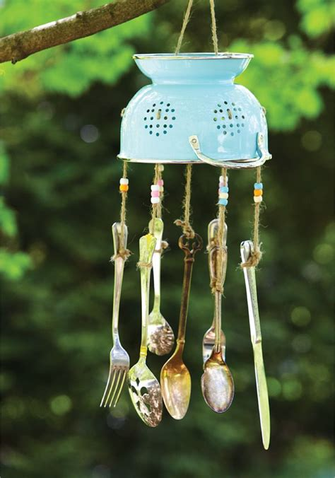 repurposed silverware wind chime outdoor garden