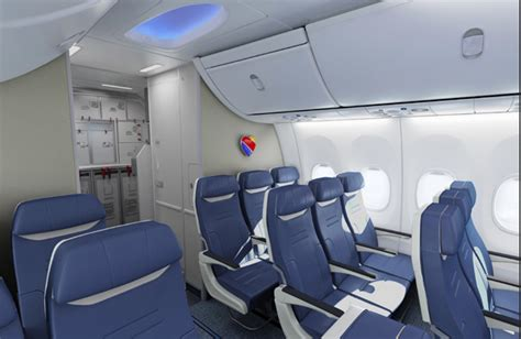 southwest airlines interior and seats almost ready to