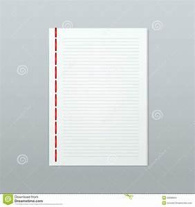Carnet Page Blanche : page blanche de carnet de note de papier blanc de vecteur ~ Teatrodelosmanantiales.com Idées de Décoration