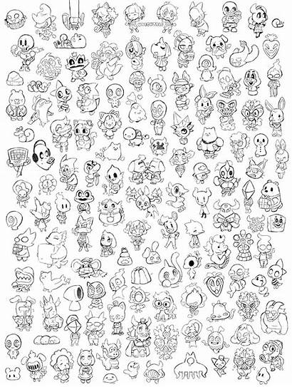 Undertale Coloring Character Pages Every Drawing Frisk
