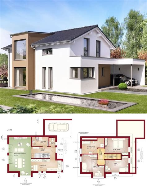 einfamilienhaus modern mit satteldach architektur design