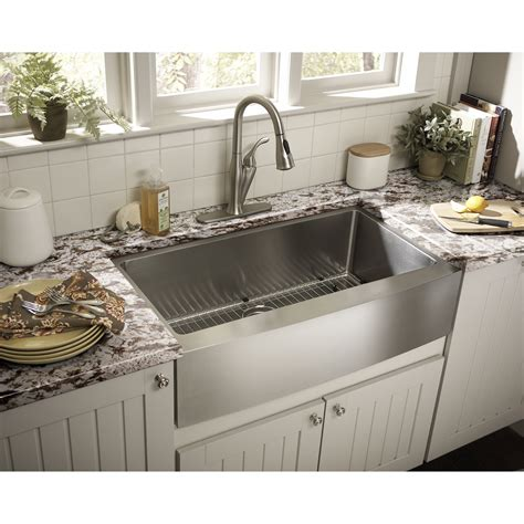 "Schon 22"" Single Bowl Farmhouse Kitchen Sink & Reviews"