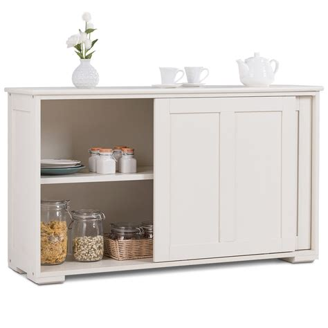 costway kitchen storage cabinet sideboard buffet cupboard