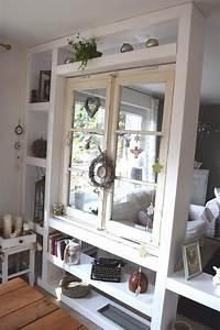 Raumteiler mit altem fenster kuche pinterest shabby for Balkon teppich mit tapete vintage