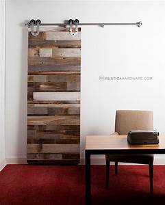 Reclaimed Barn Wood Horizontal Slat Barn Door - Rustic