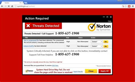 tech support scammers lure users  fake norton warnings