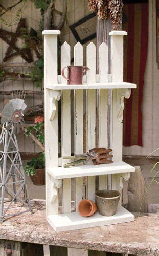 picket fence shelf outdoor pallet projects wood