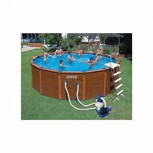 Piscine Tubulaire Intex Castorama : filtre piscine intex simple kit piscine aspect bois ~ Dailycaller-alerts.com Idées de Décoration