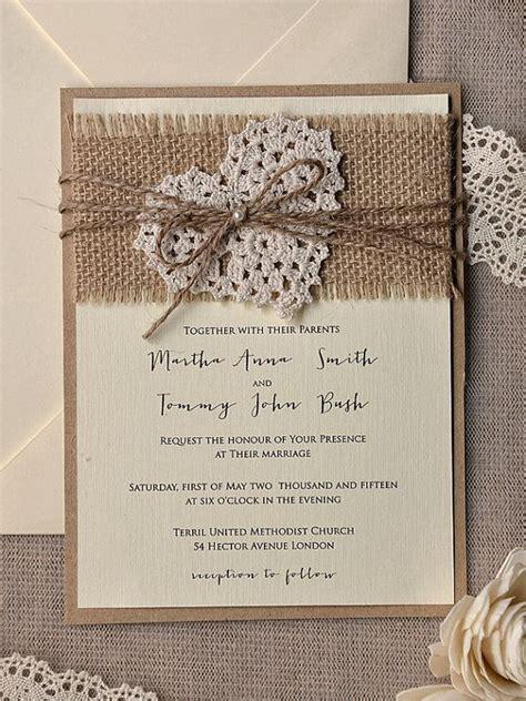 ideas  handmade wedding invitations