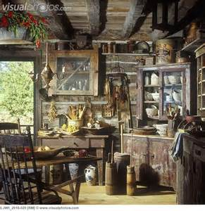 Primitive Rustic Log Cabins Interior
