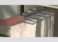 Sliderobes sliding pull out trouser rail YouTube