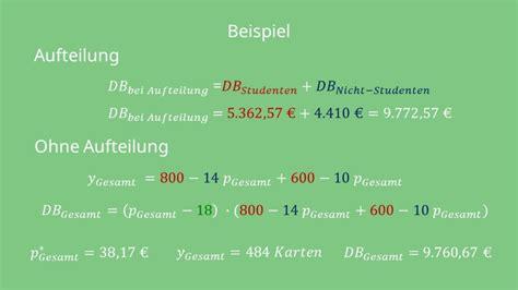 lineare und multiplikative preis absatz funktion einfach