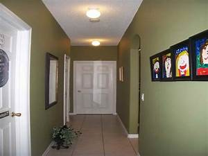 Bloombety Hallway Decorating Ideas With Green Wall