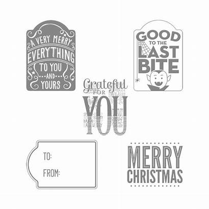 Stampin Stamp Everything Merry Bite Last Tag