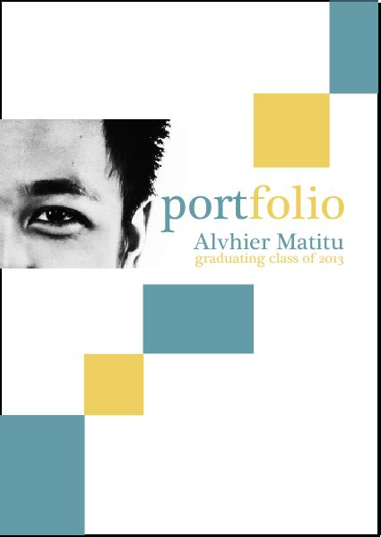 Portfolio Cover Page Template by S