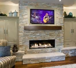 Fireplace Flat Screen by 40 Stone Fireplace Designs From Classic To Contemporary Spaces