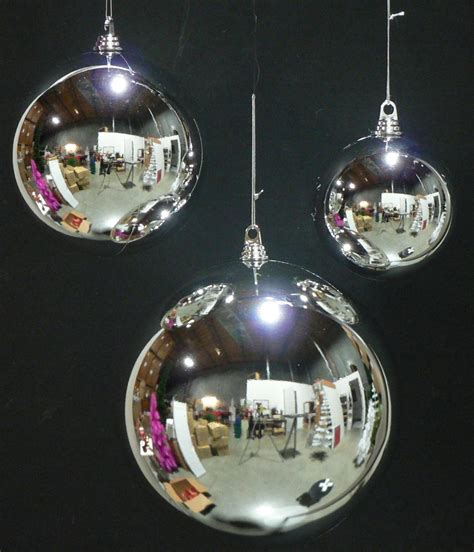 8 large silver 200mm plastic christmas ball 8 quot diam