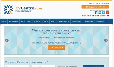 the cv centre review number 1 uk cv writing service