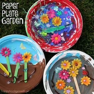 "Paper Plate Garden: a Fun Letter ""G"" Craft - Happy Hooligans"