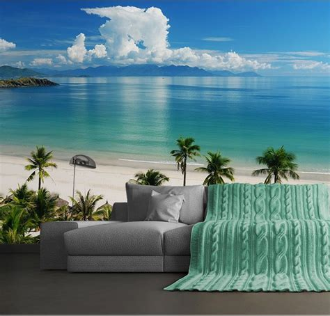 wall mural wallpaper  bedroom living room beach