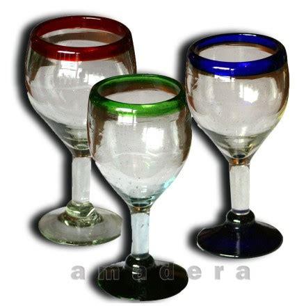 verres 224 vin ou verres de d 233 gustation vaisselle mexicaine color 233 e