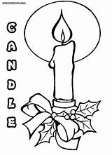 Candle Coloring Pages Print Colorings sketch template