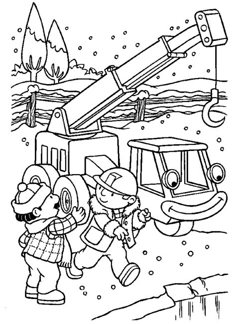 Builder Free Print by Pudgy Bunny S Bob The Builder Coloring Pages