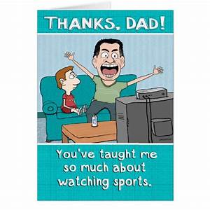 Funny Dad Sports Nut Father's Day Card | Zazzle.com