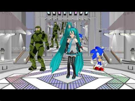 Mmd Hatsune Miku Sonic The Hedgehog Master Chief